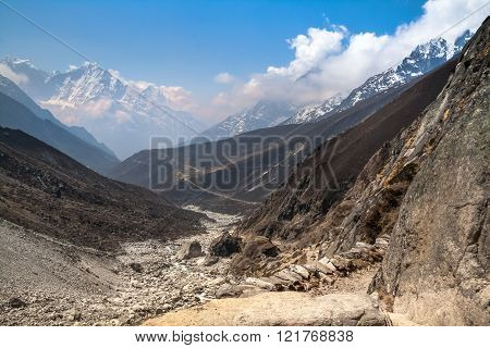 Mountain Trail In The Gokio Valley.himalayas.