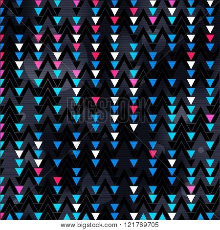 colored small polygons on a black background vector illustration abstract high quality
