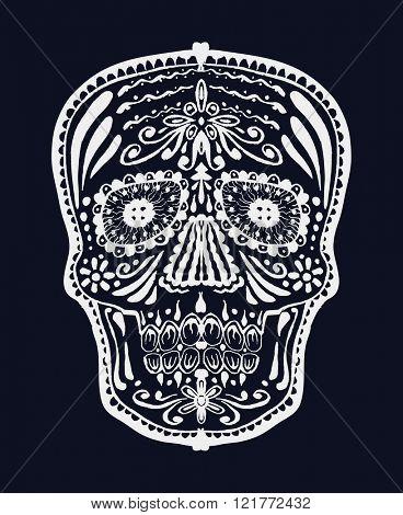 Sugar skull. Vector illustration