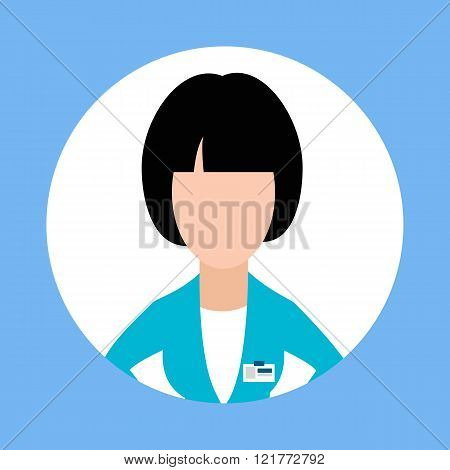 Icon Doctor Dentist Woman Flat Design