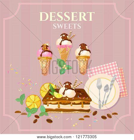Desserts And Sweets Cupcake Cake Ice Cream Chocolate Cream