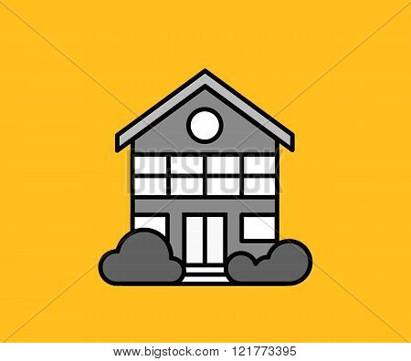 House Icon on Yellow
