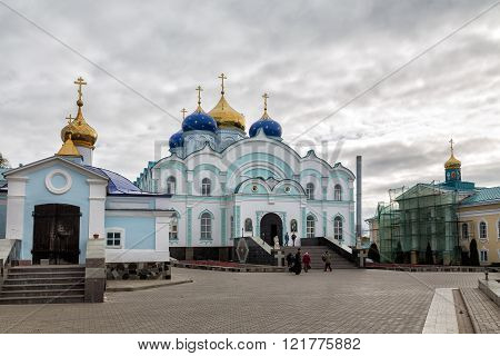 Zadonsk Russia - October 9 2015: Nativity of the Virgin Monastery. Zadonsk Nativity of Our Lady Convent was founded by two elders-Schimonks Cyril and Gerasim