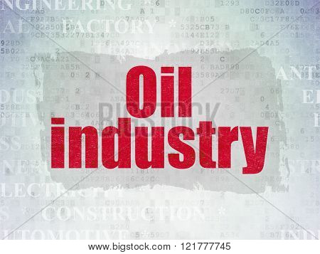 Manufacuring concept: Oil Industry on Digital Paper background