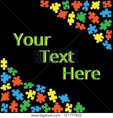 Text box with puzzles 02
