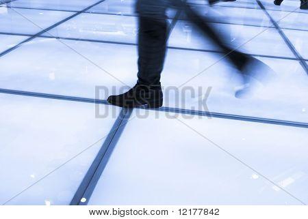 Walking business people silhouette