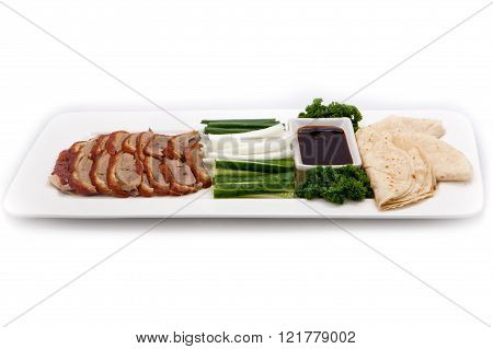 Asian cuisine dish Peking duck