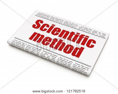 Science concept: newspaper headline Scientific Method