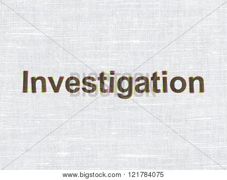 Science concept: Investigation on fabric texture background