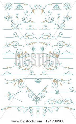 Vintage Ornaments. Design Elements
