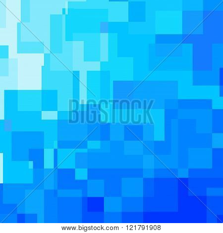 Abstract blue background consisted of rectangles