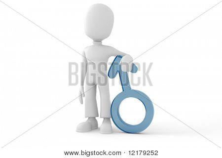 3d man nd symbol