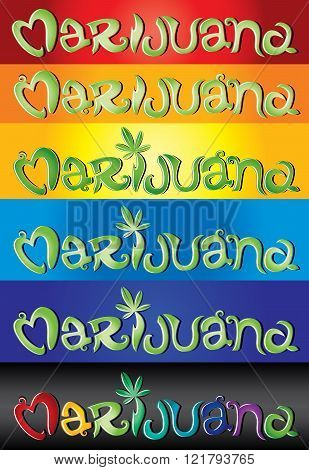 Marijuana design street grafitti text font illustration