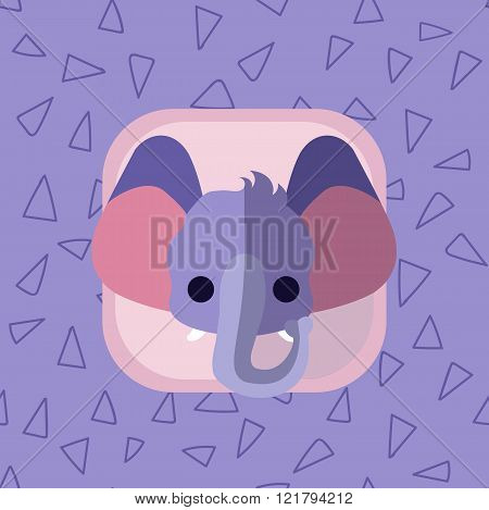 Little Cute Baby Elephant Flat Icon