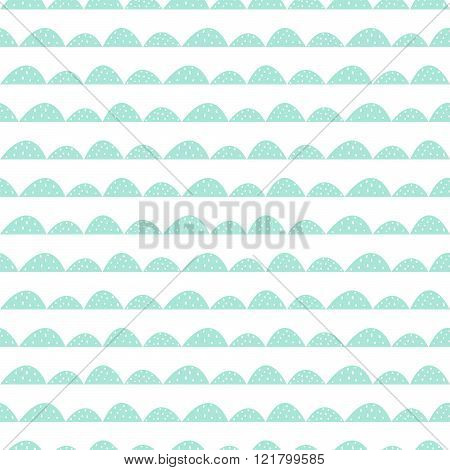 Scandinavian seamless mint pattern in hand drawn style.