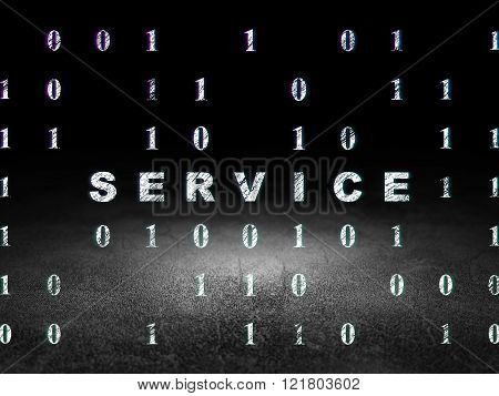 Finance concept: Service in grunge dark room