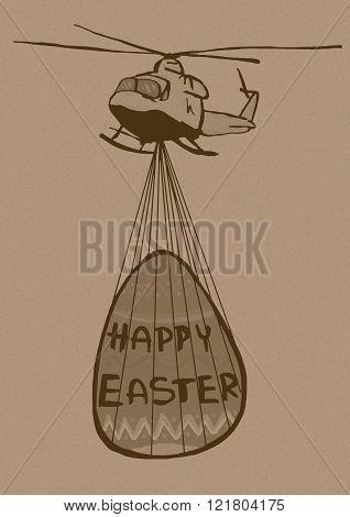 Easter Helicopter Vintage