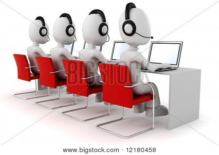 3d man, call-center