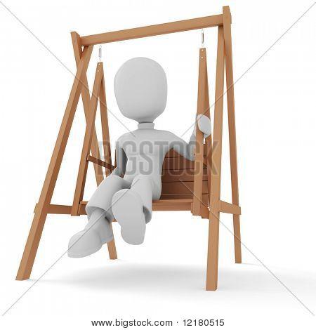 3d man, swinging