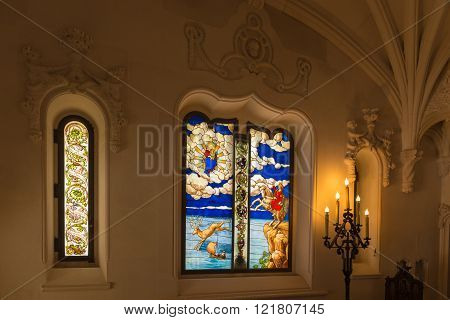 Stained Glass Windows Inside The Regaleira Palace