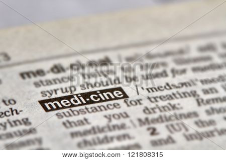 Medicine Word Definition Text