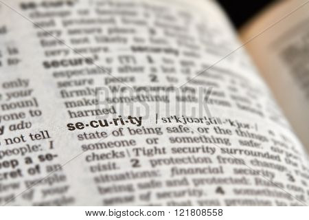 Security Word Definition Text