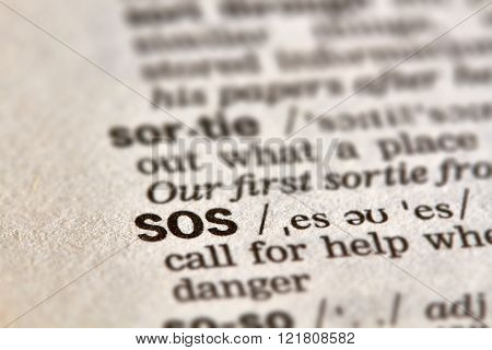Sos Word Definition Text