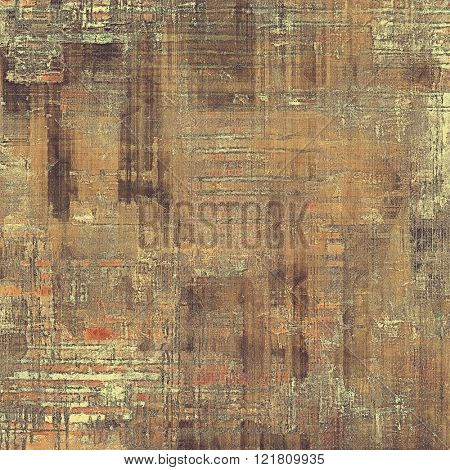 Antique frame with grunge background. With different color patterns: yellow (beige); brown; red (orange); gray