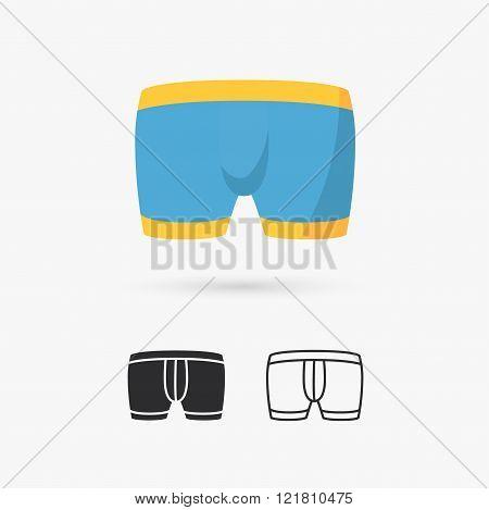 Men's underwear in front