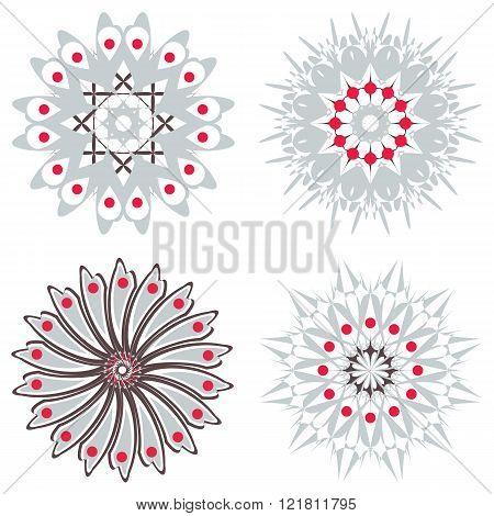 Set Of Symmetric  Trichromatic Patterns.