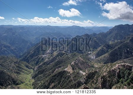 Landscapes Of Copper Canyons In Chihuahua, Mexico