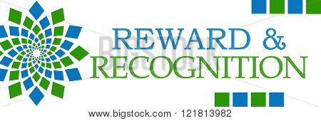Reward Recognition Green Blue Elements Horizontal