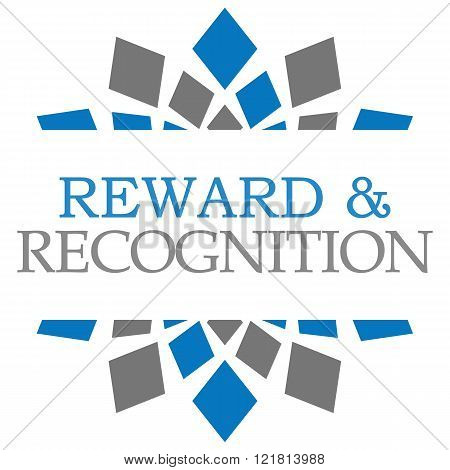 Reward Recognition Blue Grey Elements Square