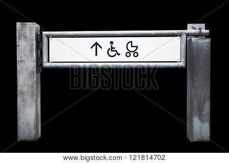 Entrance To The Shop For Physically Challenged Persons And Strollers, Isolated