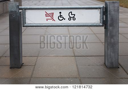 Shop Exit For Physically Challenged Persons And Strollers
