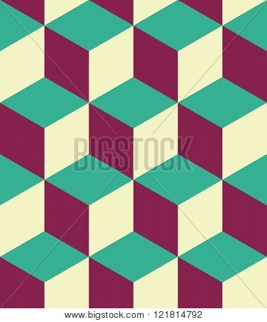 Vector modern seamless colorful geometry cubes pattern color abstract