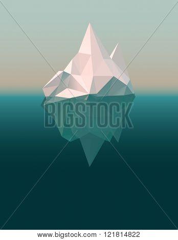 Iceberg in the ocean, eps10 vector