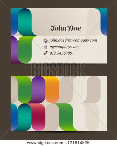 Business card design template, eps10 vector