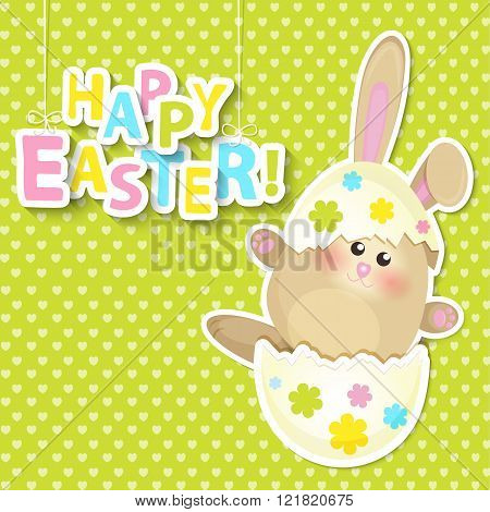 Greeting card for happy easter.