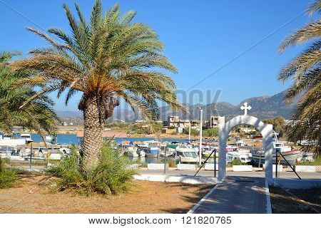 Summer Landscape With Port Of Malia.