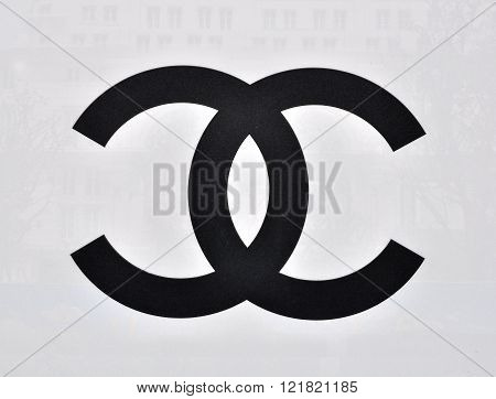 HO CHI MINH VIETNAM - MARCH 9: Logotype of Chanel flagship store in Ho Chi Minh city centre on March 9 2015. Chanel is a world famous fashion brand founded in France.