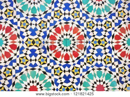 The morrocan tiles multi color pattern background
