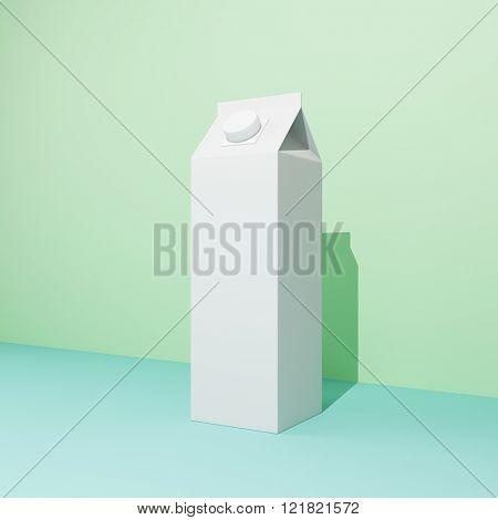 Blank milk package in pastel colors