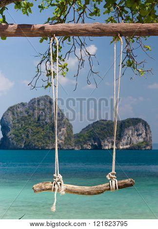 Seaside Swing Wooden Seesaw