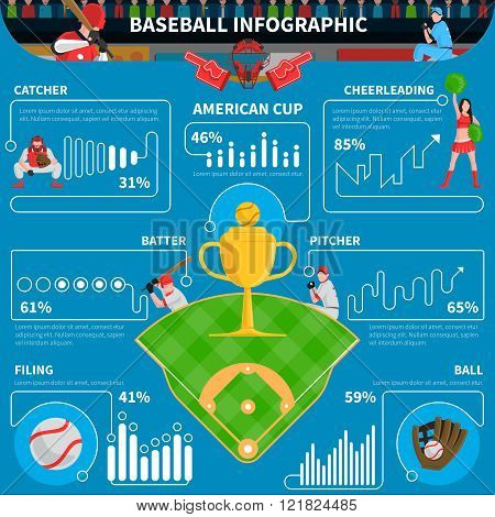 Baseball Infographics Elements