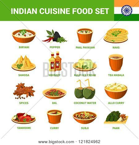 Indian Cuisine Food Set