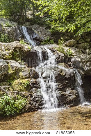 beautiful natural waterfall in shenandoah National Park