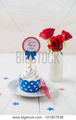 Independence day cupcake