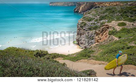 Beliche Beach In The Algarve Region Of Portugal.