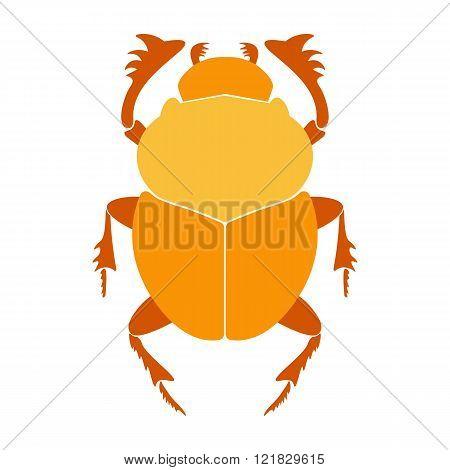 Egypt scarab beetle vector illustration. Scarab on white background. Scarab beetle vector. Scarab il